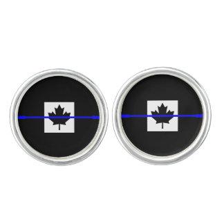 Thin Blue Line on Canadian Flag Cufflinks