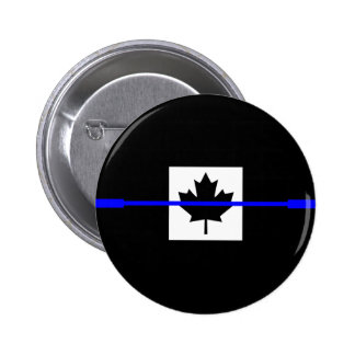 Thin Blue Line on Canadian Flag Decor Button