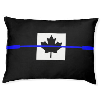 Thin Blue Line on Canadian Flag Decor Dog Bed
