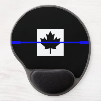 Thin Blue Line on Canadian Flag Decor Gel Mouse Pad