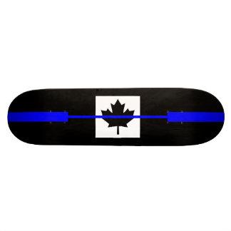 Thin Blue Line on Canadian Flag Decor Skateboard