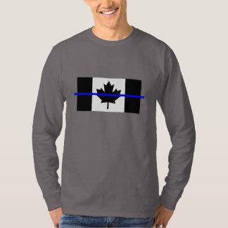 Thin Blue Line on Canadian Flag Decor T-Shirt