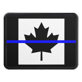 Thin Blue Line on Canadian Flag Tow Hitch Cover