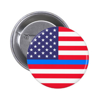 """THIN BLUE LINE on FLAG"" Button"