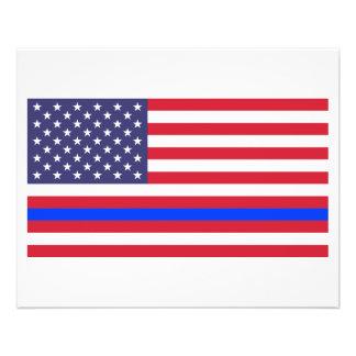 """THIN BLUE LINE on FLAG"" Flyer"