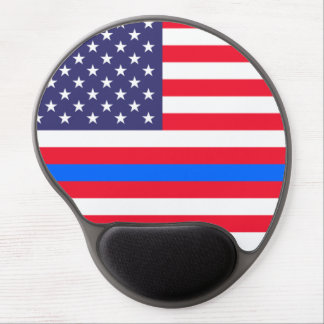 """""""THIN BLUE LINE ON FLAG"""" GEL MOUSE PAD"""