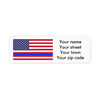 """THIN BLUE LINE on FLAG"" Label"