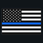 """&quot;THIN BLUE LINE on FLAG&quot; (SINGLE-SIDED) Sign<br><div class=""""desc"""">&quot;THIN BLUE LINE on FLAG&quot; (SINGLE-SIDED) YARD SIGN</div>"""