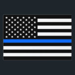 "&quot;THIN BLUE LINE on FLAG&quot; (SINGLE-SIDED) Sign<br><div class=""desc"">&quot;THIN BLUE LINE on FLAG&quot; (SINGLE-SIDED) YARD SIGN</div>"