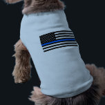 """&quot;THIN BLUE LINE on FLAG&quot; Tee<br><div class=""""desc"""">&quot;THIN BLUE LINE on FLAG&quot; PET CLOTHING</div>"""