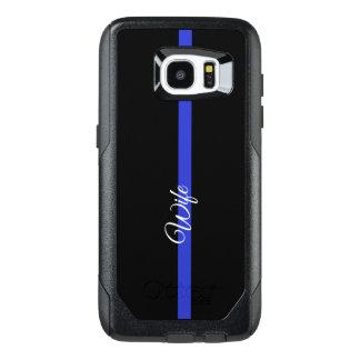 Thin Blue Line Otterbox Samsung Galaxy S7 Edge CAs OtterBox Samsung Galaxy S7 Edge Case