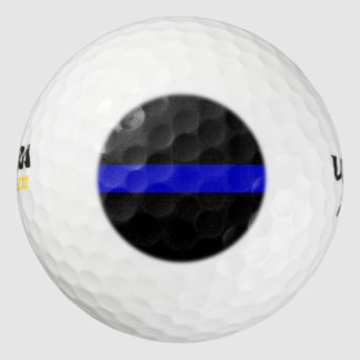 Thin Blue Line. Pack Of Golf Balls