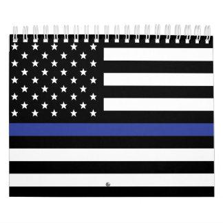 Thin Blue Line - Patriot/patriotic American Police Calendar