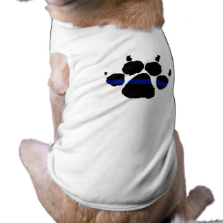 Thin Blue Line Paw K-9 Shirt