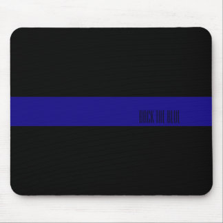 Thin Blue Line Personalized Mouse Pad