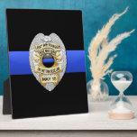 Thin Blue Line Photo Plaque