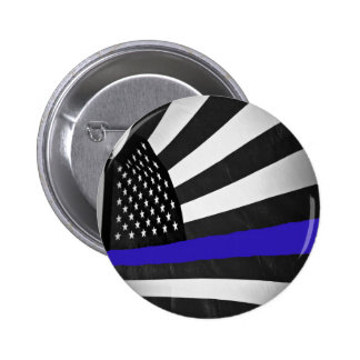 Thin Blue Line Pinback Button