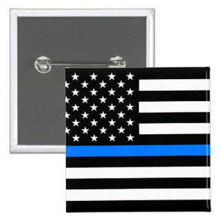 """THIN BLUE LINE"" PINBACK BUTTON"