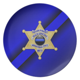 Thin Blue Line Party Plates