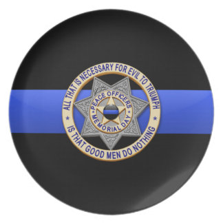 Thin Blue Line Plate
