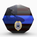 """Thin Blue Line - Police 25 Yr Award Plaque<br><div class=""""desc"""">Customize this beautiful gift with your own text to suit the circumstances. This original Police 25 Yr Award Plaque badge artwork was designed specifically for law enforcement officers. It makes a wonderful gift for all of the usual gift occasions but also in acknowledgement of personal achievement, recognition, promotion or retirement....</div>"""