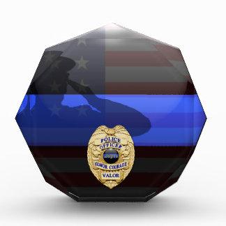 Thin Blue Line - Police 28 Yr Award Plaque