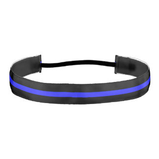 Thin Blue Line Police Athletic Headband