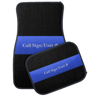 Thin Blue Line Police Car Mats