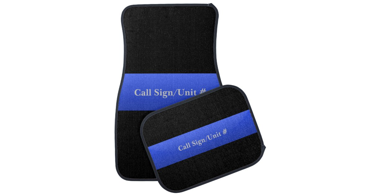 Thin Blue Line Police Car Mats Zazzle Com