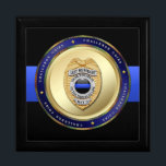 "Thin Blue Line - Police Challenge Coin Box<br><div class=""desc"">Thousands of law enforcement officers, their families and supporters collect police challenge coins from all over the world. Keep them safe in our custom designed challenge coin box with an original, one-of-a-kind image on it that you cannot find in any other store (online of offline). Two sizes and four color...</div>"
