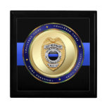Thin Blue Line - Police Challenge Coin Box Gift Box