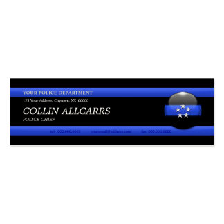 Thin Blue Line Police Chief Custom Business Card