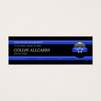 Thin Blue Line Police Chief Custom Business Card