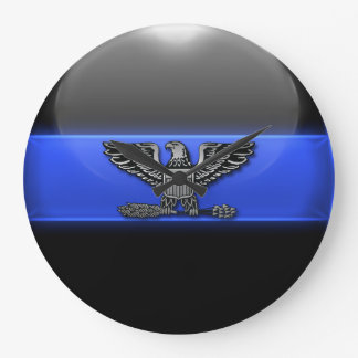 Thin Blue Line - Police Chief Eagle Insignia Large Clock
