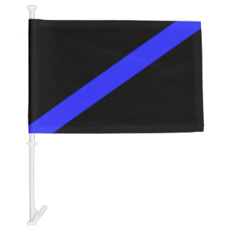 Thin Blue Line Police Funeral Flag