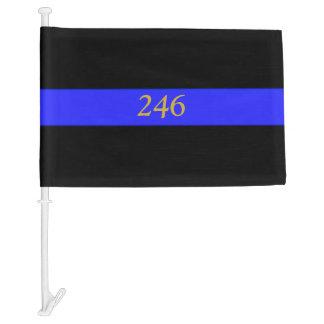 Thin Blue Line Police Funeral Flag Custom Badge #