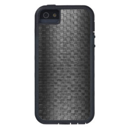 Thin Blue Line - Police Leather Small Basket Weave iPhone SE/5/5s Case