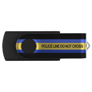 Thin Blue Line Police Line Do Not Cross Flash Drive