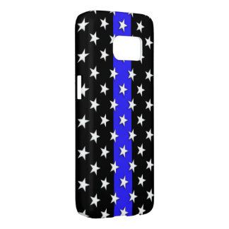 Thin Blue Line Police Lot of Stars Samsung Galaxy S7 Case