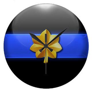 Thin Blue Line - Police Major Insignia Large Clock