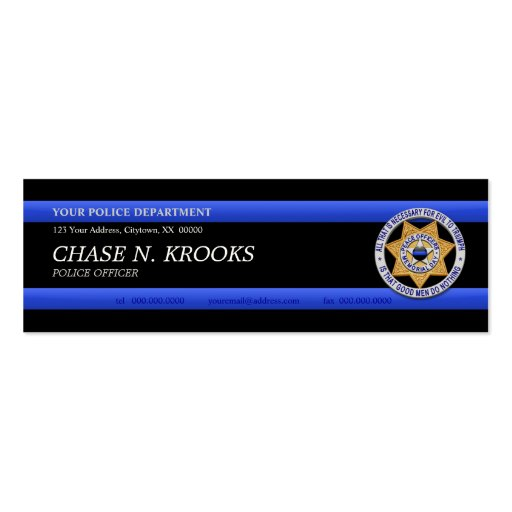 600 Police ficer Business Cards and Police ficer