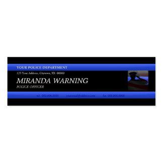 Thin Blue Line Police Officer Custom Business Card