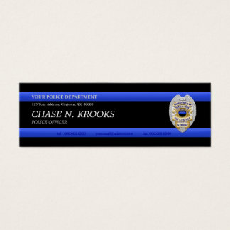Thin Blue Line Police Officer Custom Business Card