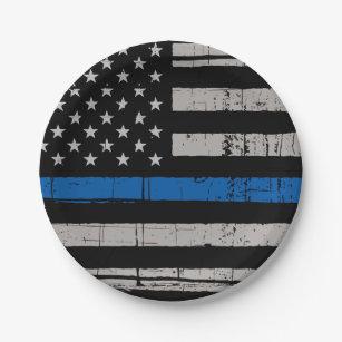 Thin Blue Line - Police Officer - K9 Police Dog Paper Plate  sc 1 st  Zazzle & Police Plates | Zazzle
