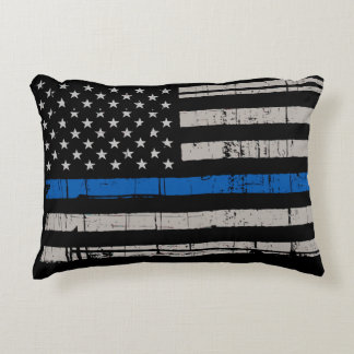 Thin Blue Line - Police Officer - Law Enforcement Accent Pillow