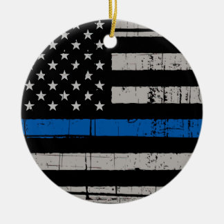 Thin Blue Line - Police Officer Ornament