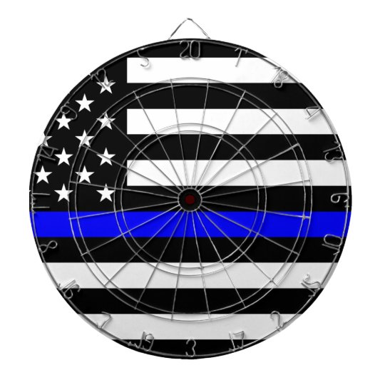 8a360f9bd07d Thin Blue Line Police Officers Memorial Flag Dart Board