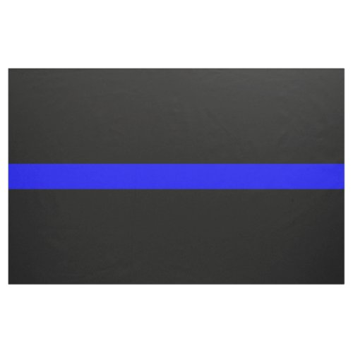 Thin Blue Line Police Officers Memorial Flag Fabric