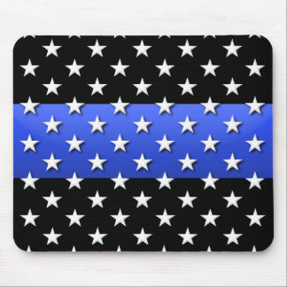 Thin Blue Line Police Stars and Stripes Mouse Pad