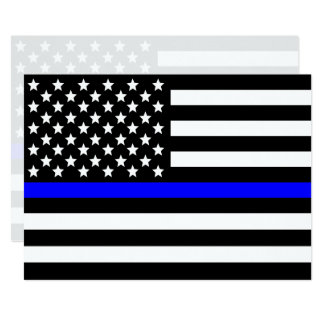 Thin blue line Police Support Card